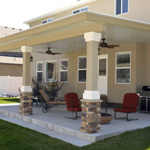 Stone Stucco Brick Posts Patio Covers - Gallery 1 | Boyd's Custom Patios