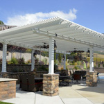 Stone Stucco Brick Posts Patio Covers - Gallery 6 | Boyd's Custom Patios