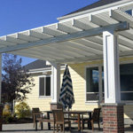 Stone Stucco Brick Posts Patio Covers - Gallery 8 | Boyd's Custom Patios
