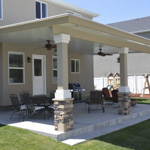 Stone Stucco Brick Posts Patio Covers - Gallery 11 | Boyd's Custom Patios