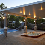 Stone Stucco Brick Posts Patio Covers - Gallery 14 | Boyd's Custom Patios